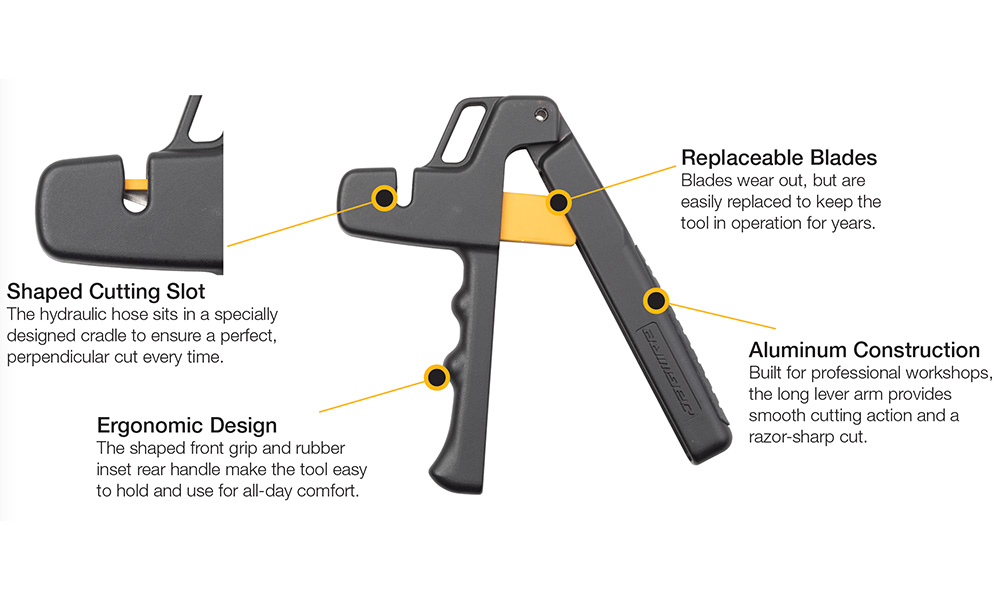 What's included in the packaging for Elite Hydraulic Hose Cutter